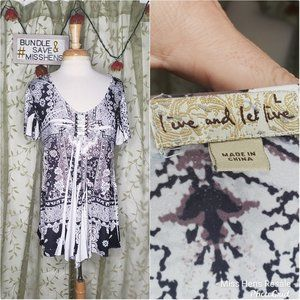 LIVE AND LET LIVE PAISLEY PRINT LOOSE FIT BLOUSE